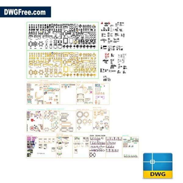 Furniture Equipment dwg cad blocks