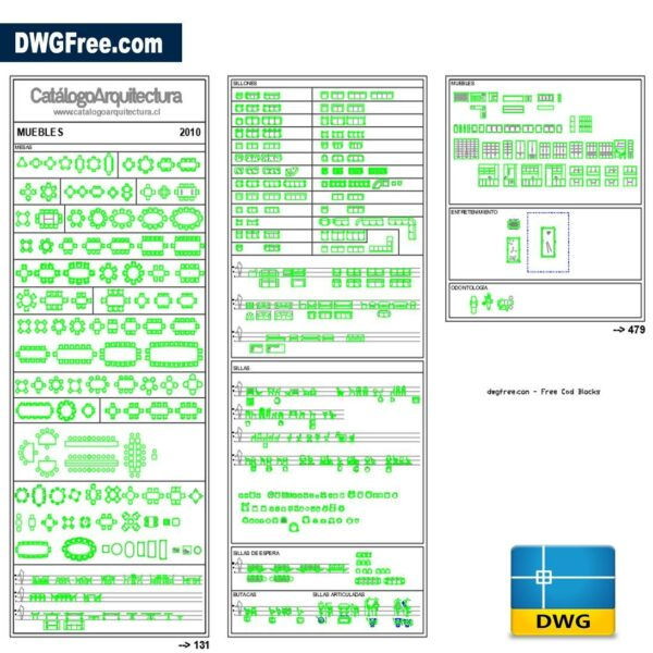 Furnitures 2d dwg cad blocks