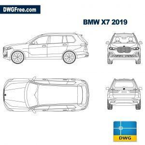bmw x7 dwg cad blocks autocad