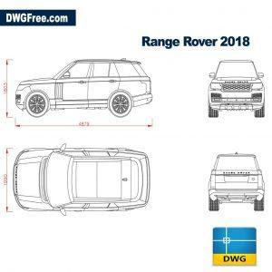 range rover 2018 dwg cad blocks land