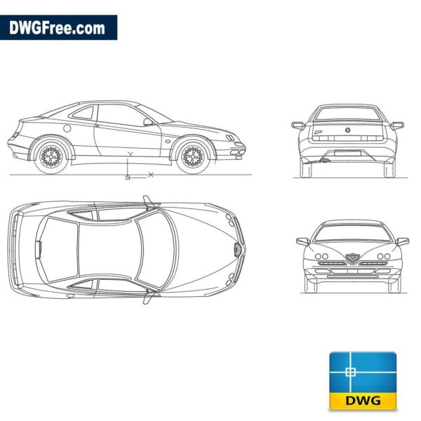 Alfa Romeo GTV dwg autocad