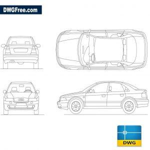 Audi A4 dwg autocad blocks