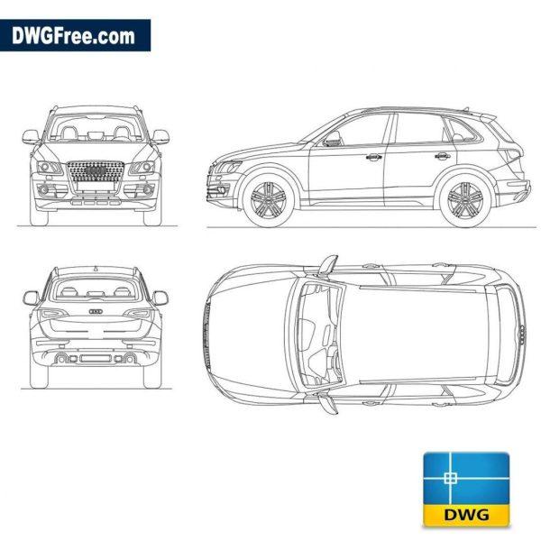 Audi q5 dwg autocad