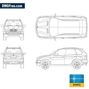 BMW X5 dwg autocad blocks