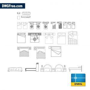 Bedroom furniture dwg autocad