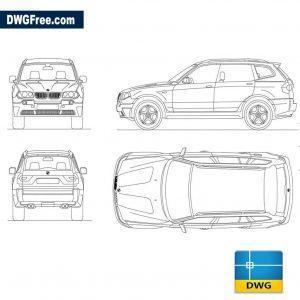 Bmw x3 dwg autocad blocks