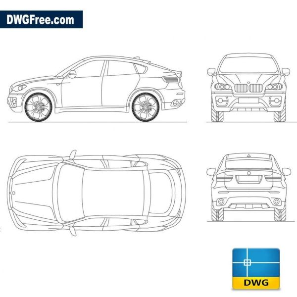 Bmw x6 dwg autocad blocks