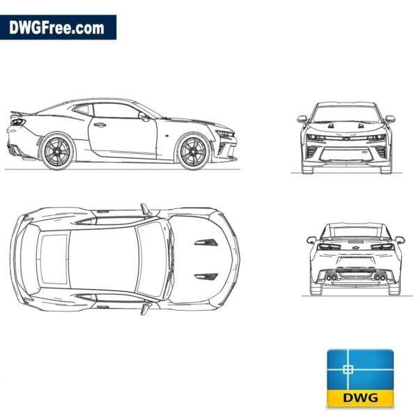 Chevrolet Camaro 2017 dwg autocad