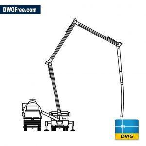 Concrete Pump and Cement Mixer dwg