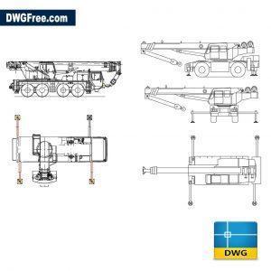 Crane dwg cad blocks