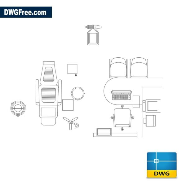 Dentist room furniture dwg