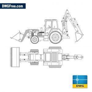 Excavator Loader 331 dwg autocad