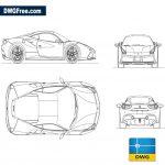 Ferrari 488 GTB dwg cad blocks