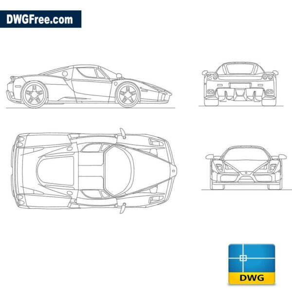 Ferrari Enzo dwg autocad blocks