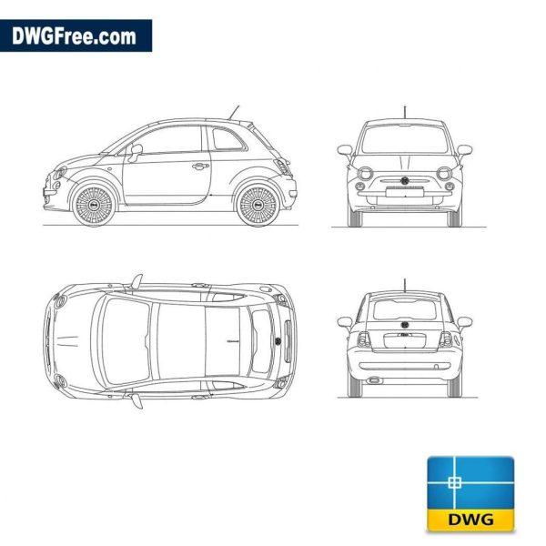 Fiat 500 dwg autocad blocks
