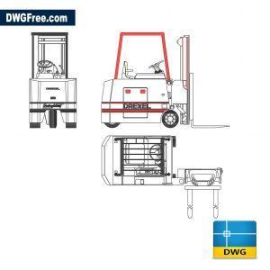 Forklift dwg cad