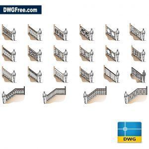 Handrails Cad dwg cad blocks
