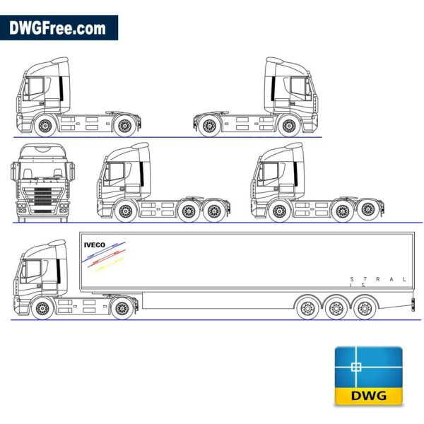 IVECO Stralis dwg cad