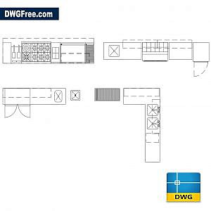 Industrial kitchen dwg autocad
