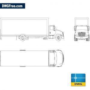 International truck dwg cad