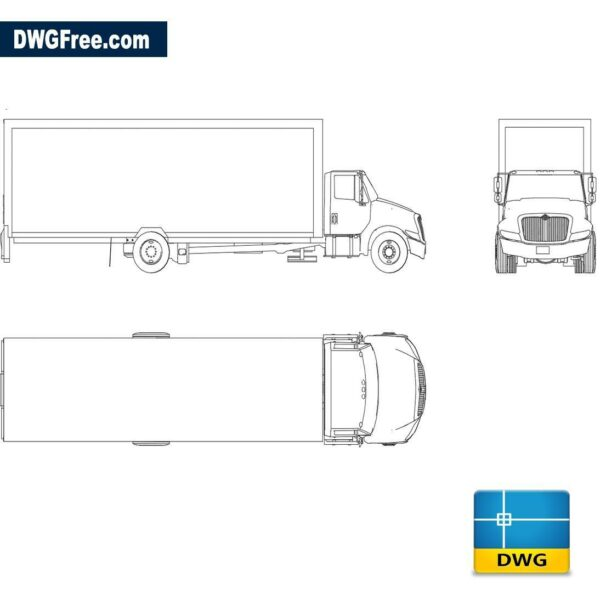 International truck dwg cad