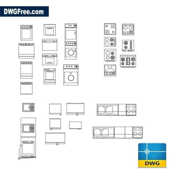 Kitchen furniture dwg autocad