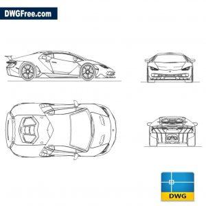 Lamborghini Centenario dwg autocad