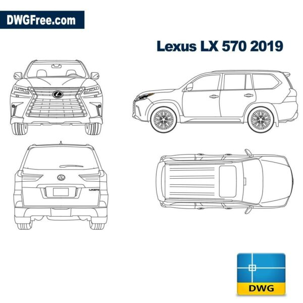 Lexus LX 2019 dwg autocad blocks