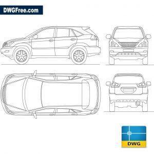 Lexus RX 300 dwg cad