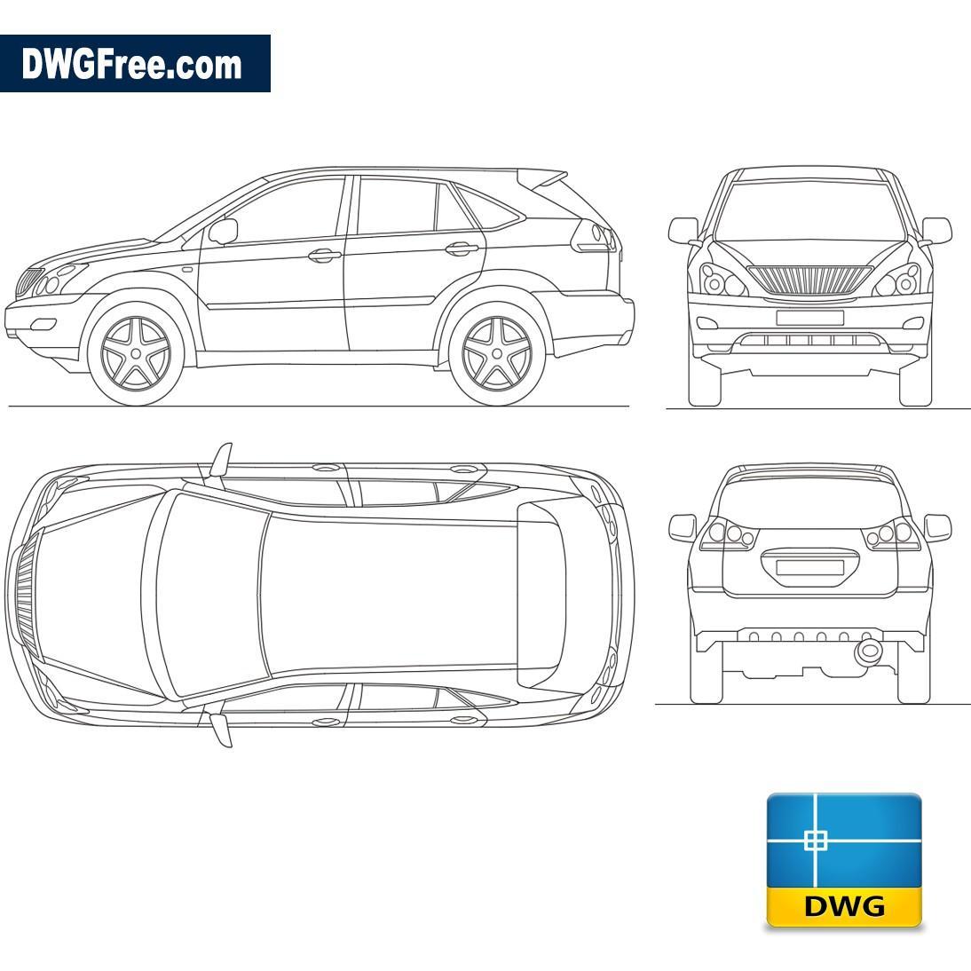 Lexus Rx 300 Dwg Download Autocad Blocks Model Download
