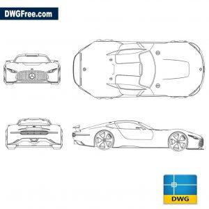 Mercedes AMG GT Concept dwg autocad