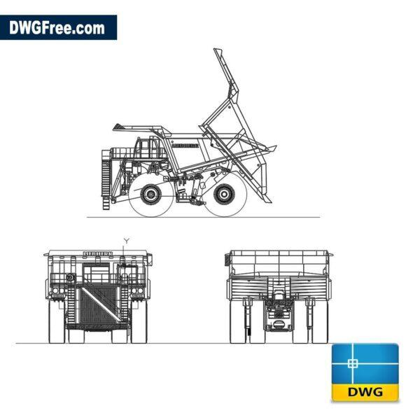 Mining truck dwg cad