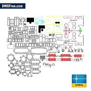 Office furniture dwg