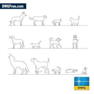 Pets dwg cad blocks