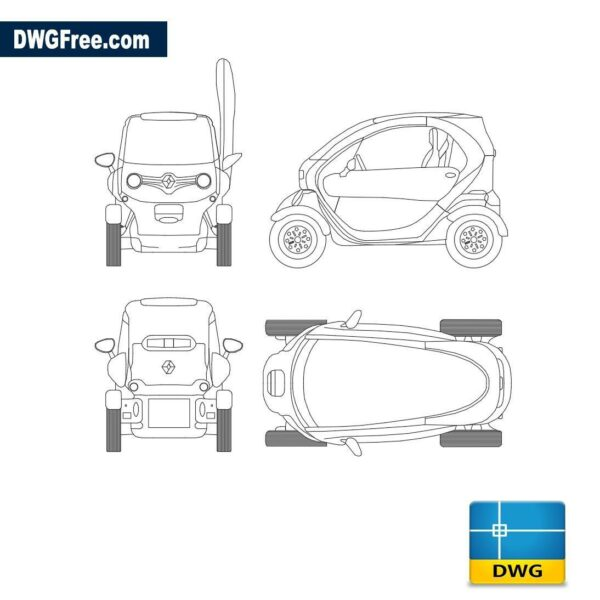 Renault Twizy dwg autocad blocks