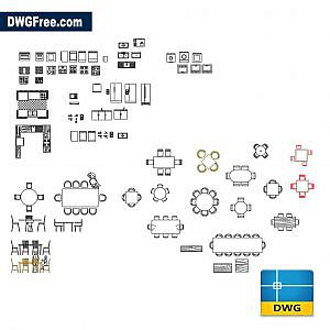 Several furnitures dwg autocad