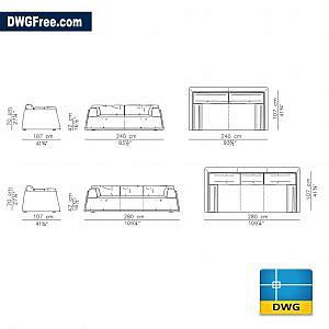 Sofa dwg autocad