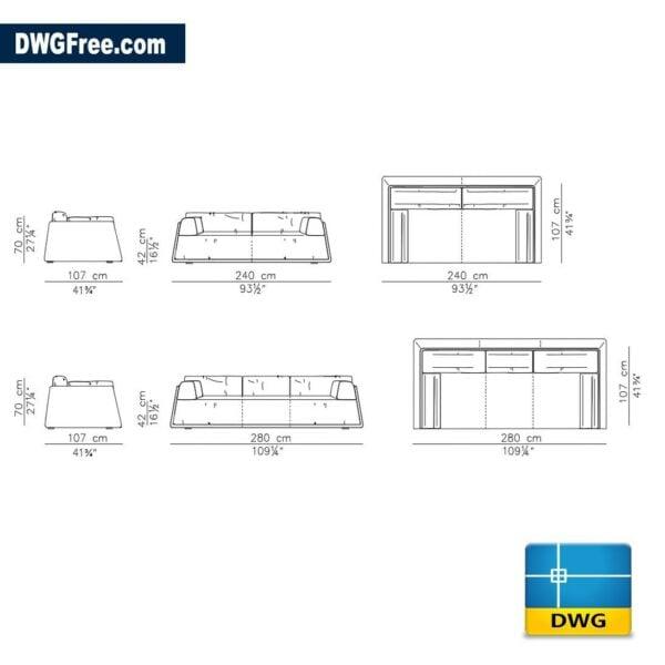 Sofa Dwg Free Dwg 2d Model Cad Blocks