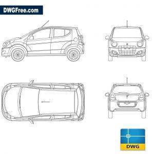 Suzuki Celerio dwg autocad blocks