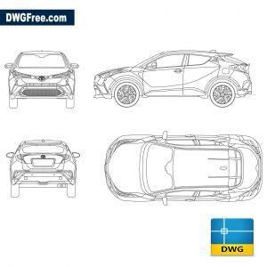 Toyota C-HR 2017 dwg cad blocks