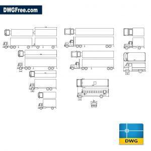 Trucks Blocks dwg cad blocks