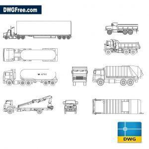 Trucks Cads dwg cad blocks