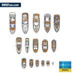 Yacht dwg cad blocks