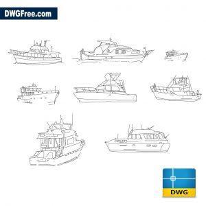 Yachts dwg cad blocks