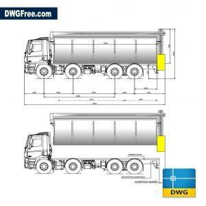 daf trucks dwg cad blocks