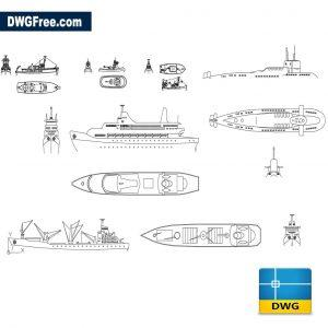 naval equipment dwg cad blocks