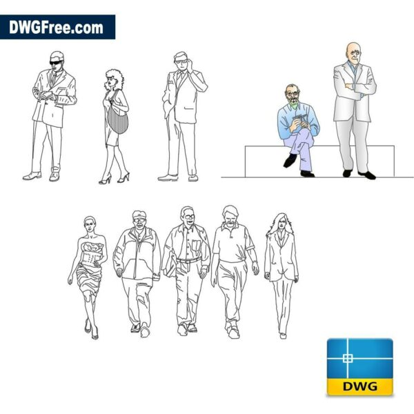 people on the move dwg cad