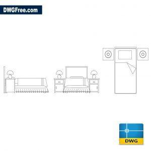 Bedroom Furniture Blocks dwg cad