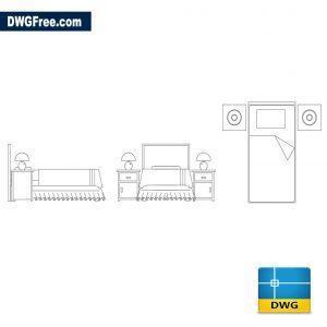 Bedroom Furniture Blocks dwg cad