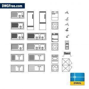 Blocks kitchen dwg cad